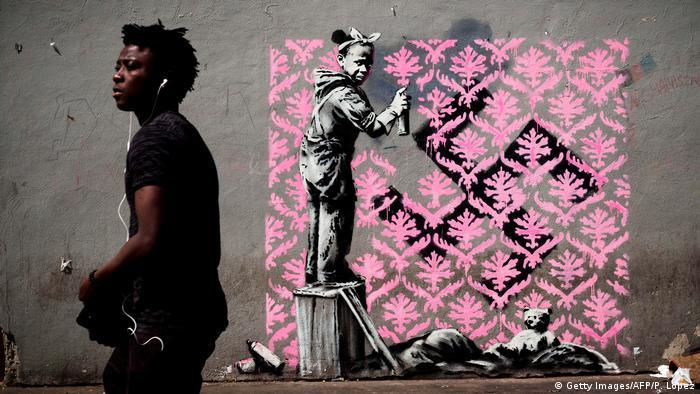 Banksy street art in Paris