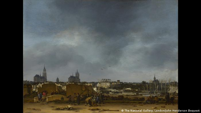 Painting of a cityscape partiall in ruins (The National Gallery, London/John Henderson Bequest, 1879)