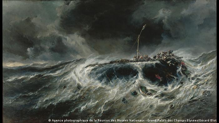 Painting of the ocean in a storm, and a shipwreck © Foto: Gérard Blot / Agence photographique de la Réunion des Musées Nationaux - Grand Palais des Champs Elysées