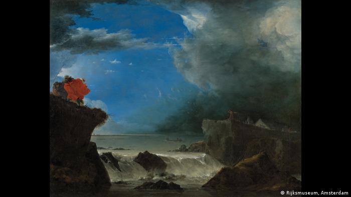 Painting of a dike breaking (Rijksmuseum Amsterdam)