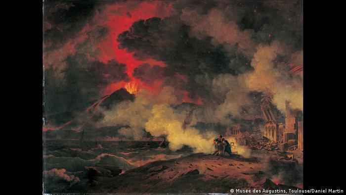A oil panting of Mount Vesuvius erupting by Pierre-Henri de Valenciennes (Musée des Augustins, Toulouse/Daniel Martin)