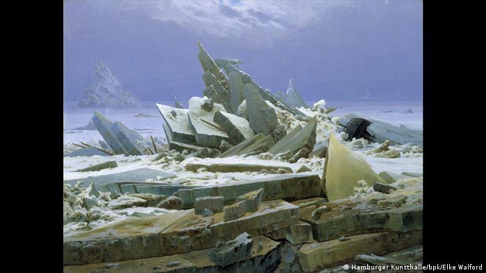 Painting of huge, towering ice floes . © Hamburger Kunsthalle / bpk Foto: Elke Walford