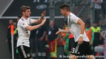 Fußball WM 2018 Timo Werner und Mario Gomez