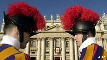 Two Swiss Guards at the Vatican