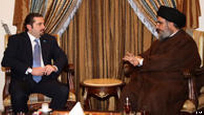 Hassan Nasrallah und Saad Hariri (AP)