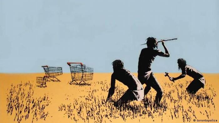 Trolley Hunt, Banksy (torontopolice)