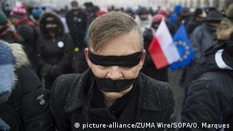 Από διαδήλωση στη Βαρσοβία υπέρ της ανεξαρτησίας της Δικαιοσύνης