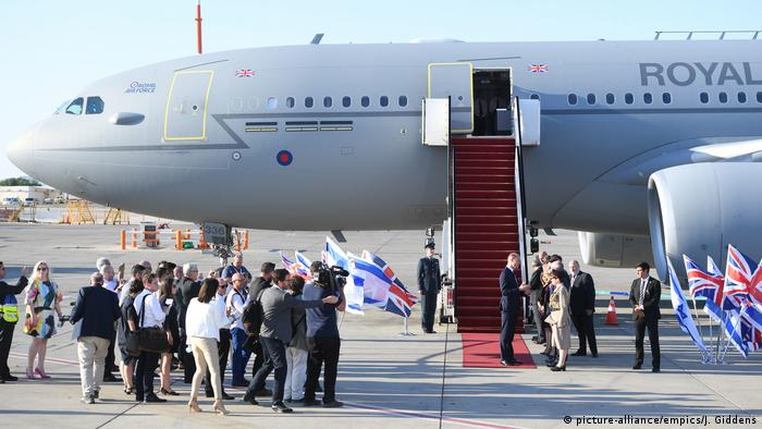 Duke of Cambridge Prince William arrives at Israel's Ben Gurion airport