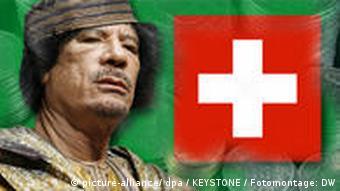 Gaddafi, money and the swiss flag