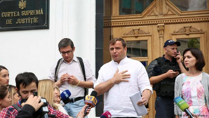 Republik Moldau Oppositionspolitiker vor Oberstem Gericht (DW/ Elena Covalenco)