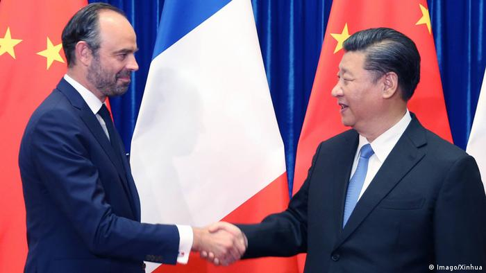 China Edouard Philippe und Xi Jinping in Peking (Imago/Xinhua)