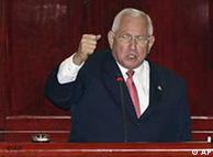 El presidente interino Roberto Micheletti habla en el Congreso hondureño.