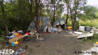 Розтрощений ромський табір поблизу Львова (архівне фото)