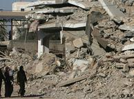 Destruição  na Faixa de Guerra