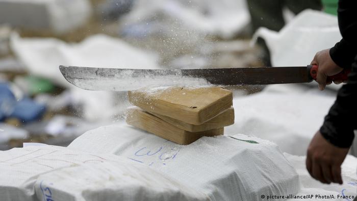 Panama Zerstörung von Kokain durch die Polizei