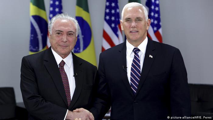 Brasilien - Mike Pence trifft Michel Temer in Brasilia