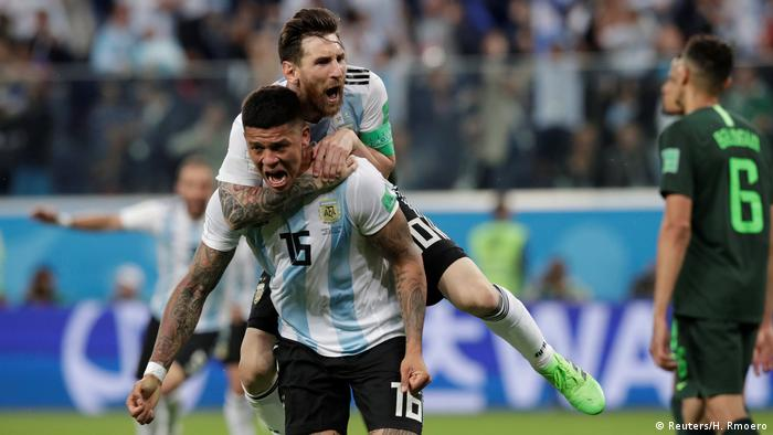 336d4568179 World Cup 2018: Late Marcos Rojo winner keeps Argentina alive ...