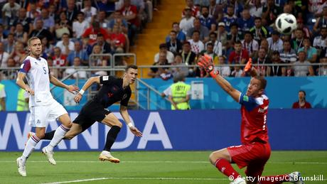 Fußball WM 2018 Island vs Kroatien Tor 1:2 (Getty Images/C. Brunskill)