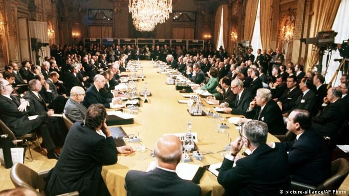 Frankreich, Paris: 1972 Eröffnung European Common Market (picture-alliance/AP Photo)