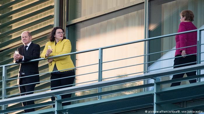 Coalition members including Merkel