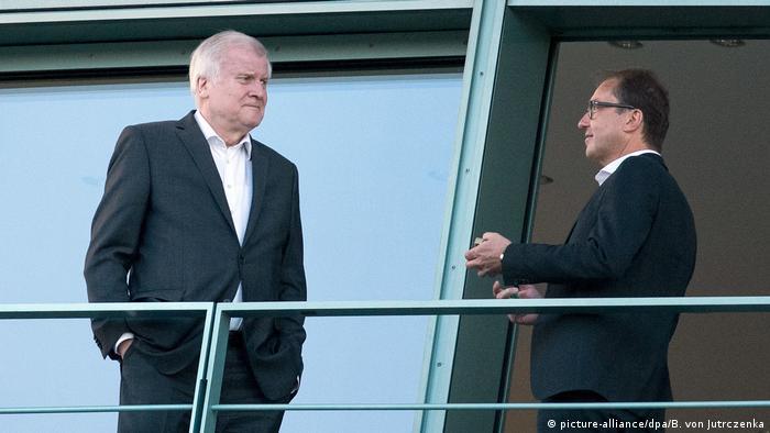 German conservatives Horst Seehofer and Alexander Dobrindt