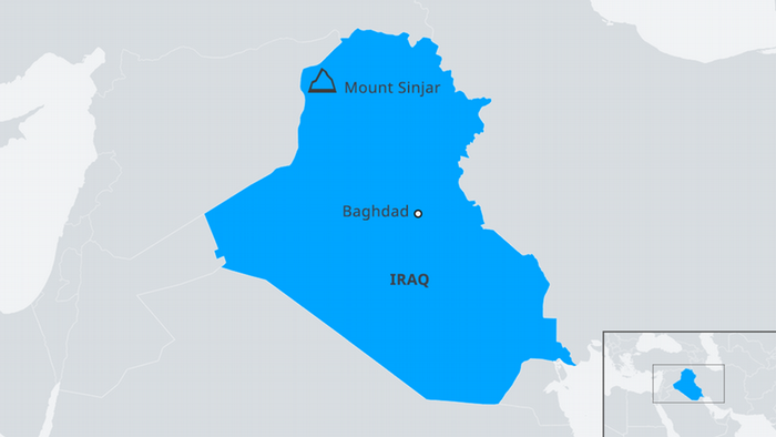 Map of Iraq with Mount Sinjar EN