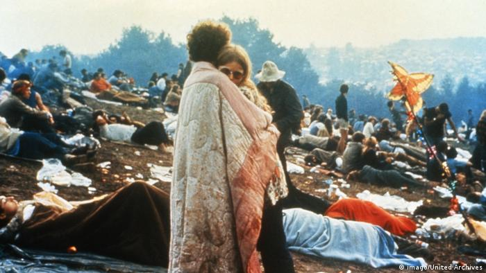 Visitors at the Woodstock Festival (imago / United Archives)