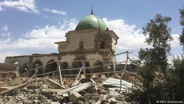 Zerstörte Al Nuri Moschee in Mossul