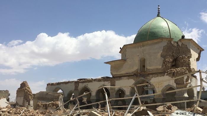 Разрушенная мечеть в Мосуле