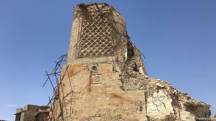 Разрушенный минарет мечети Ан-Нури