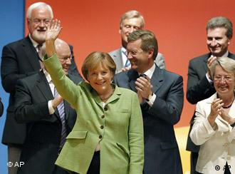 Chancellor Angela Merkel presents the conservatives' election program