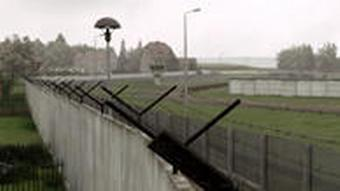 A section of the old inner-border wall between East and West Germany