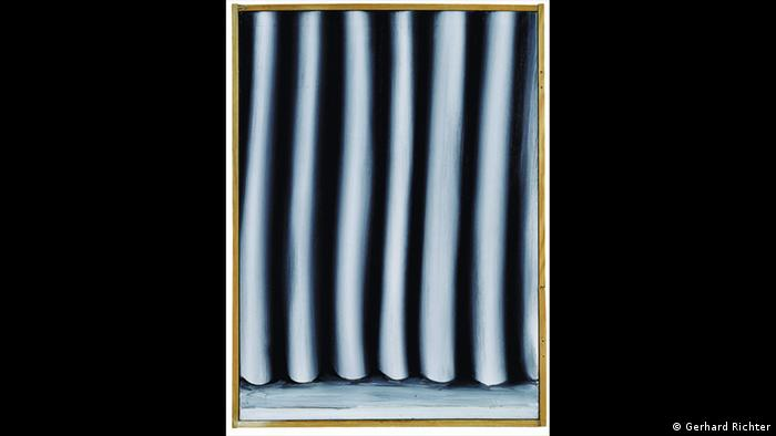 Gerhard Richter painting, Curtain (Gerhard Richter)