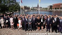 27.06.2018****British Foreign Secretary Boris Johnson, European Union foreign policy chief Federica Mogherini, Denmark's Foreign Minister Anders Samuelsen, Turkish Foreign Minister Mevlut Cavusoglu, Denmark's Prime Minister Lars Loekke Rasmussen and other guests pose for a group picture during the international Ukraine Reform Conference in Copenhagen, Denmark, June 27, 2018. Martin Sylvest Ritzau Scanpix/via REUTERS ATTENTION EDITORS - THIS IMAGE WAS PROVIDED BY A THIRD PARTY. DENMARK OUT. NO COMMERCIAL OR EDITORIAL SALES IN DENMARK.