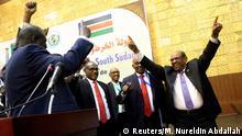 Südsudan Friedenstreffen - Präsidenten Salva Kiir und Rebellenführer Machar