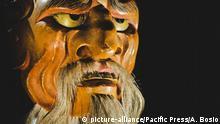 The Noh japanese theater JO ( Hanakobu-akujo ) mask (Photo by Alessandro Bosio / Pacific Press)   Verwendung weltweit, Keine Weitergabe an Wiederverkäufer.