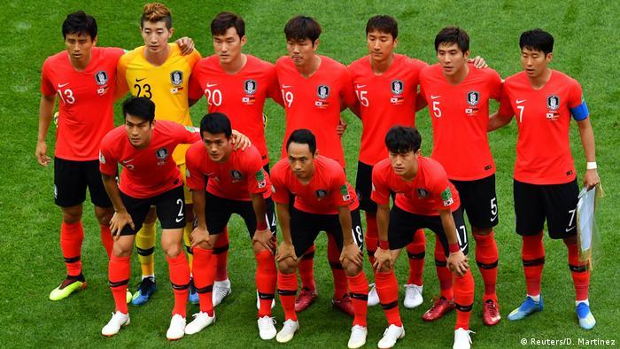 ترکیب آغازین تیم ملی کره جنوبی در مصاف با آلمان