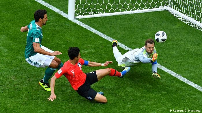 ЧС-2018 з футболу в Росії. Епізод матчу Німеччина - Південна Корея.