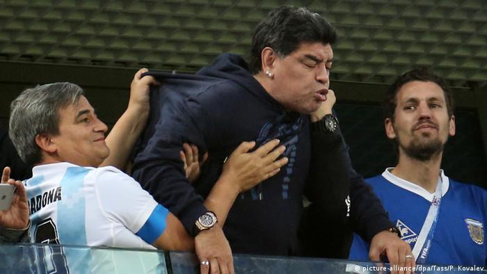 Maradona en San Petersburgo.