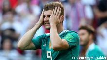 Soccer Football - World Cup - Group F - South Korea vs Germany - Kazan Arena, Kazan, Russia - June 27, 2018 Germany's Timo Werner reacts after a chance REUTERS/Michael Dalder