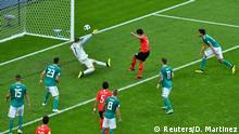 Soccer Football - World Cup - Group F - South Korea vs Germany - Kazan Arena, Kazan, Russia - June 27, 2018 South Korea's Kim Young-gwon scores their first goal REUTERS/Dylan Martinez