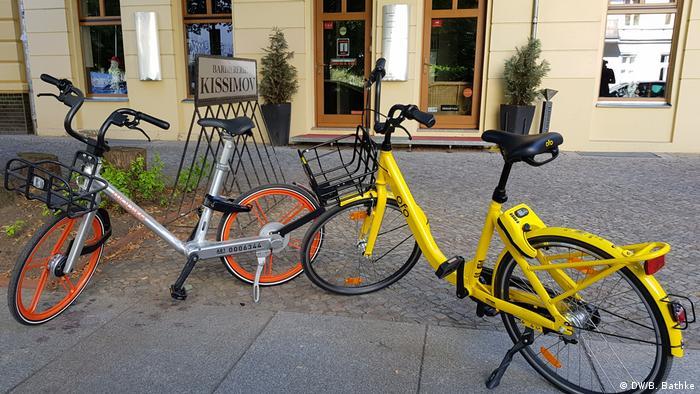 Deutschland - gelbes Ofo Fahrrad - Berlin bike-sharing
