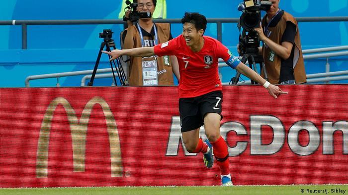 FIFA Fußball-WM 2018 in Russland | Deutschland vs. Südkorea | Jubel Südkorea (0:2) (Reuters/J. Sibley)