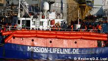 Malta Rettungsboot Mission Lifeline im Hafen von Valletta