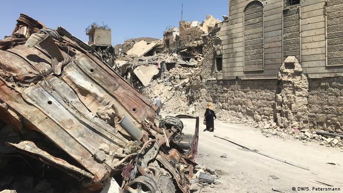 Разрушенный центр Мосула