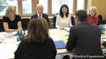 ...και τους αντιπροέδρους της Κ.Ο. των χριστιανικών κομμάτων CDU/CSU Ραλφ Μπρίνκχαους και Κάτια Λάικερτ