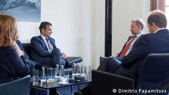 Deutschland - Griechische Politiker der Nea Dimokratia Partei zu Besuch in Berlin