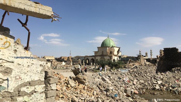 The ruins of Al-Nuri-Mosque