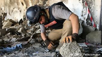 Irak Reportage Mossul 1 Jahr nach der Befreiung   Irakische Kampfmittelräumer, UNMAS (DW/S. Petersmann)