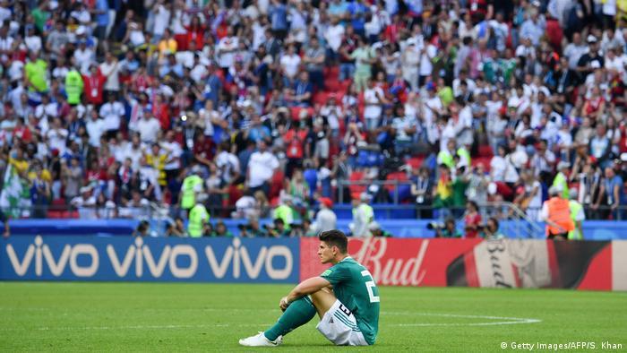 O atacante Mario Gomez após a eliminação histórica